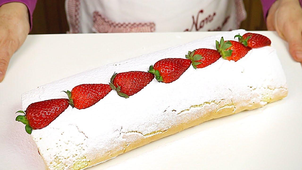 Rotolo alle fragole e panna ricetta facile strawberry for Fatto in casa da benedetta 2