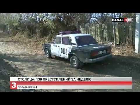 Кишинёв- 130 преступлений за неделю! Canal3 MD