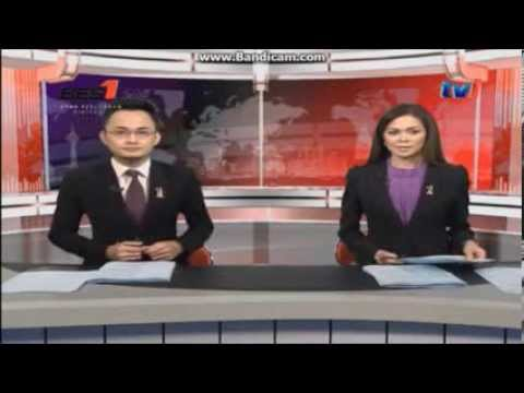 TV1 via BES 1 live streaming - Tourism Malaysia clock and Berita Nasional opener (30.11.2013)
