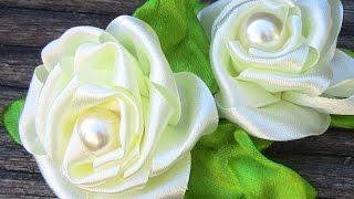 Fabric flower tutorial- modelo de Rosa em Fita Passo a Passo flor do jardim