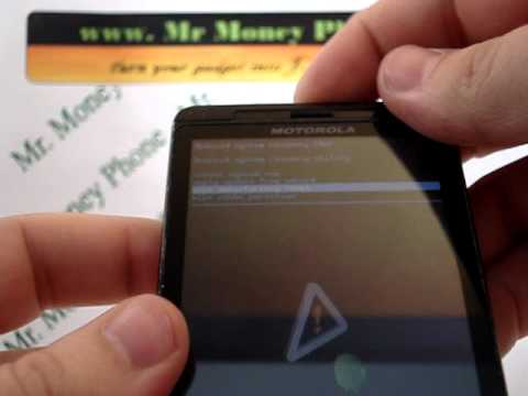 Motorola Droid X (External) HARD RESET Wipe Data Master Reset (RESTORE to FACTORY condition)