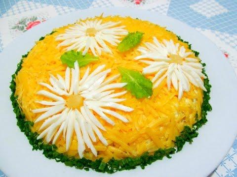 Как приготовить Вкусно - САЛАТ с Курицей и Ананасами Рецепты Салатов.