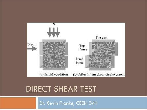 CEEN 341 - Lecture 19 - Intro to Shear Strength and the Direct Shear Test