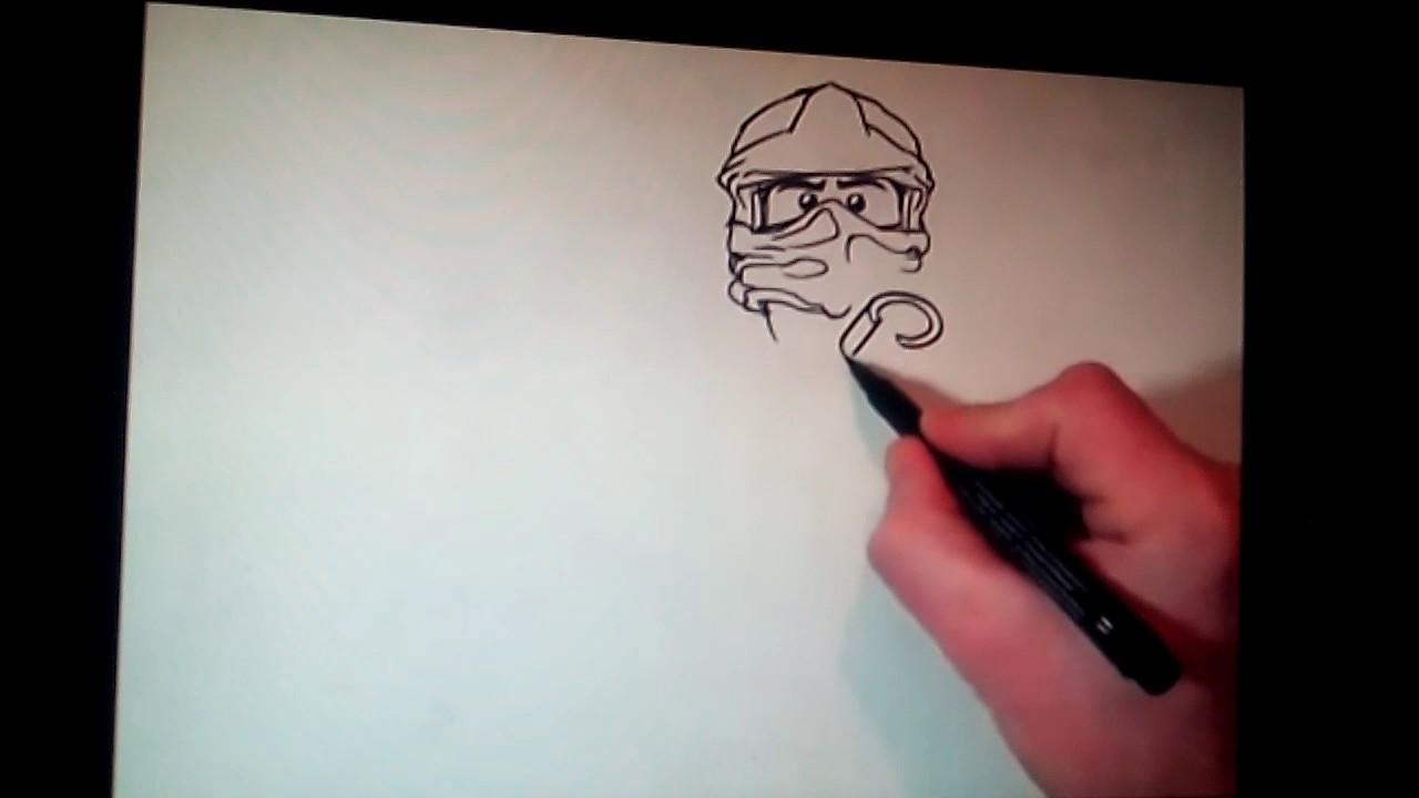 Как нарисовать Кая ZX из Лего Ниндзяго мастера кружитцу ...