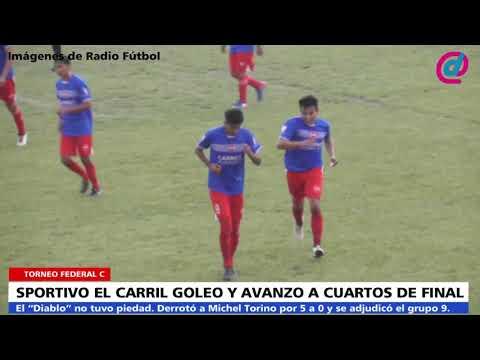 Sportivo El Carril 5   Michel Torino 0   Goles