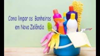 Como limpar os  Banheiros  em Nova Zelândia