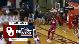 Oklahoma vs. UTSA Basketball Highlights (2018-19) | Stadium