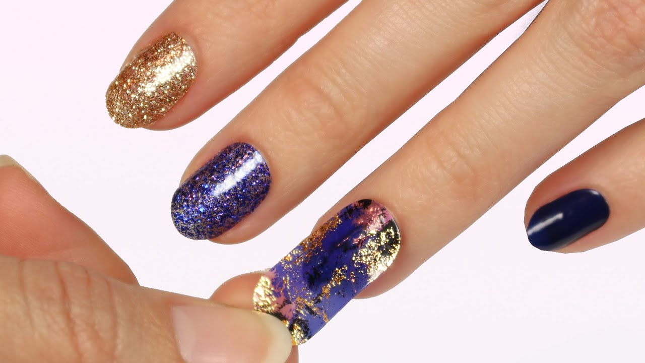 Trying Dashing Diva GLOSS Nail Strips - YouTube