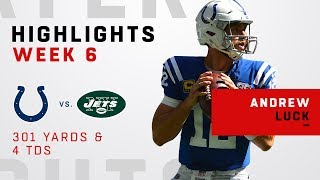 Andrew Luck Fires 4 TDs vs. Jets