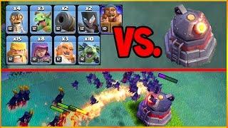 ROASTER versus Every Troop in the Clash of Clans Builder Hall 6 UPDATE!