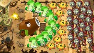 Coconut Cannon, Starfruit and Bonk Choy - Plants vs Zombies 2
