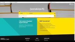 Sanakirja.fi käyttöohjeet