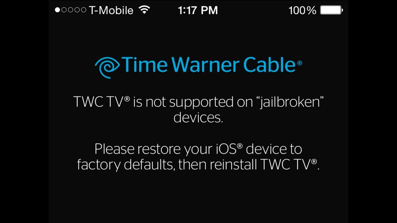 Time Warner Cable App Jailbreak Fix: HOW TO BYPASS TIME WARNER CABLE JAILBREAK DETECTION - YouTuberh:youtube.com,Design