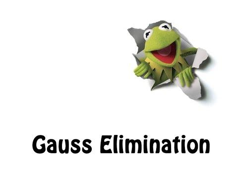 11- Gauss Elimination method   شرح مصوفات طريقة الحذف ل جاوس