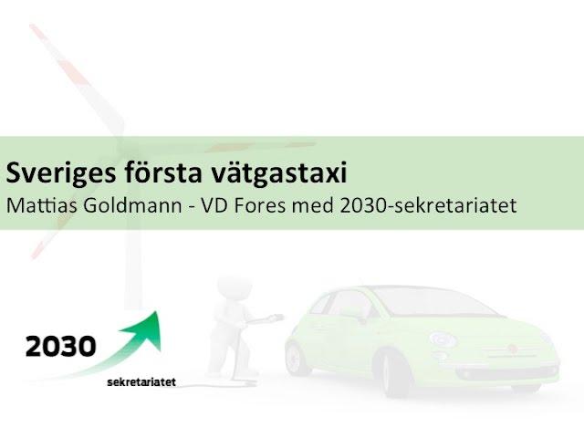 Sveriges första vätgastaxi