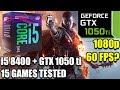 i5 8400 paired with a GTX 1050 ti - Enough For 60 FPS? - 15 Games Tested at 1080p