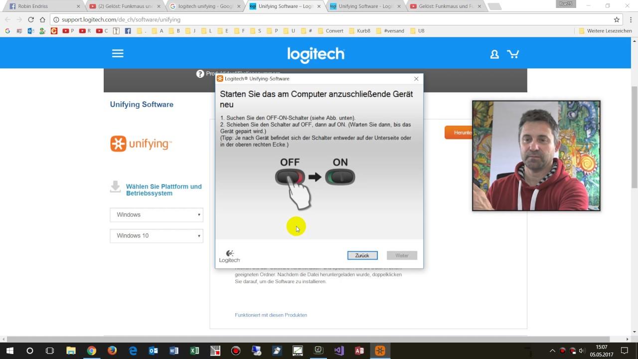 Probleme mit Schnurloser Maus-Tastatur beheben mit Unifying Logitech ...