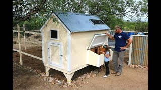 Chicken Coop Tour  - Rainwater harvesting, Solar, DIY Feeder, ... and more!