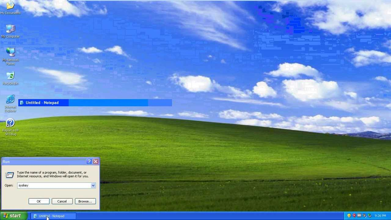 how to find xp password