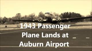 Airplane out of the past makes grand entrance to honor Auburn woman