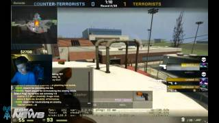 "CS: GO 12 Year Old Player Adam ""at0m"" Keitel, Knife Battle with iBUYPOWER swag"