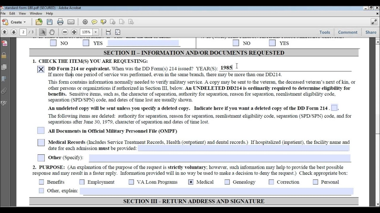 Standard Form 180 Page 2 The Law Offices Of Andy I Chen Youtube