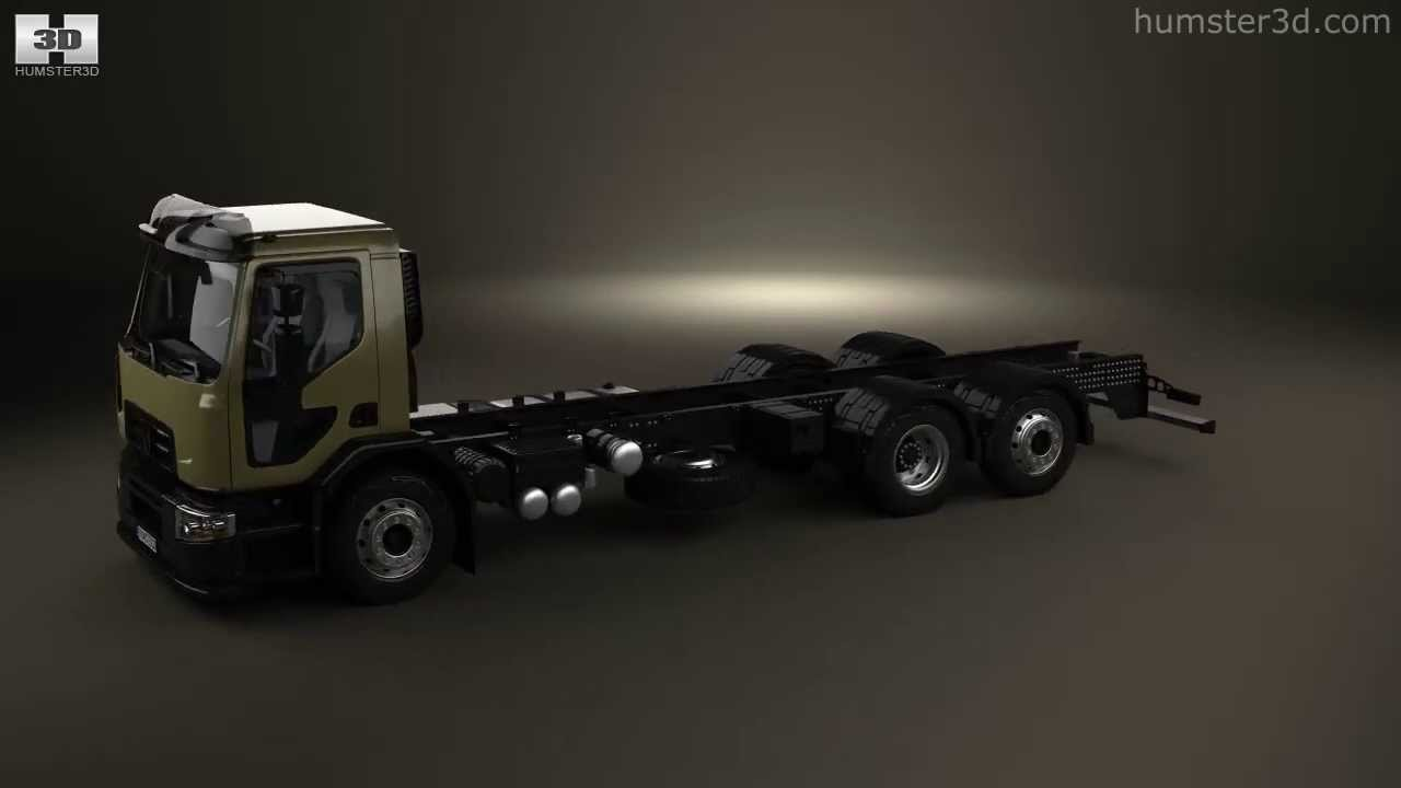 renault d wide chassis truck 2013 by 3d model store youtube. Black Bedroom Furniture Sets. Home Design Ideas