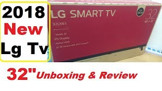 LG 32LK616 New Smart tv 2018 Unboxing amp Review in Hindi