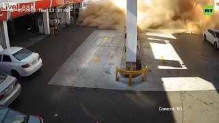 Fuel tank massively explodes at Saudi Arabia gas station