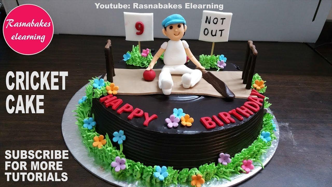 Cricket birthday chocolate cake decorating tutorial ...