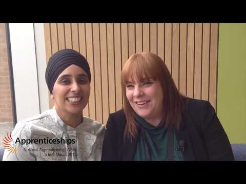 National Apprenticeship Week 2018 - Raj Grewal and Louise Ward