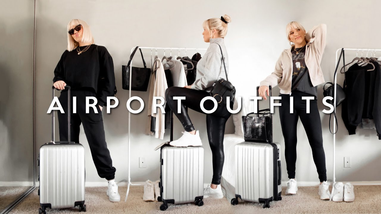 [VIDEO] - AIRPORT OUTFIT IDEAS! COZY + CUTE TRAVEL LOOKS 2019 3