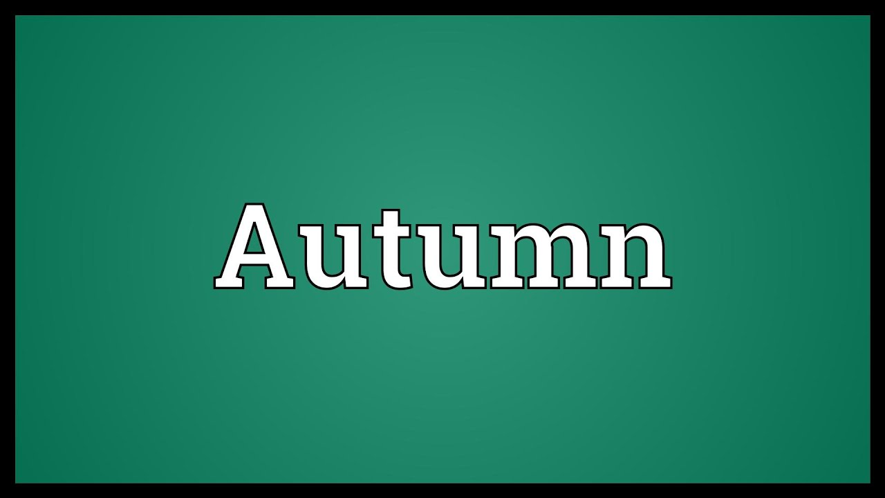Autumn Meaning