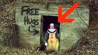 hunting creepy killer clowns in forest