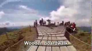 Japan Travel: Mount Tsurugi comfortable hiking place and chair-lift. Tokushima, Shikoku