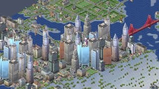 SimCity 3000 Time-lapse Creation of a Waterfall City