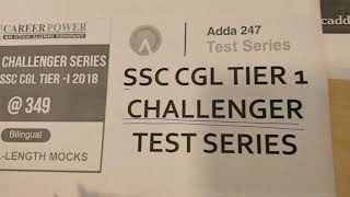 SSC CGL Tier I 2018 Challenger Test Series