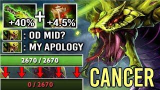 OMG Cancer Venomancer Mid is Back! Most Toxic Build 3000 Damage Nova Epic Game by Sccc WTF Dota 2