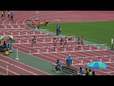 Nat'l Corp Champ2017 Women's100mH heat2 Hitomi SHIMURA13.78(-0.5) 紫村仁美 梅原紗月 桐山智衣