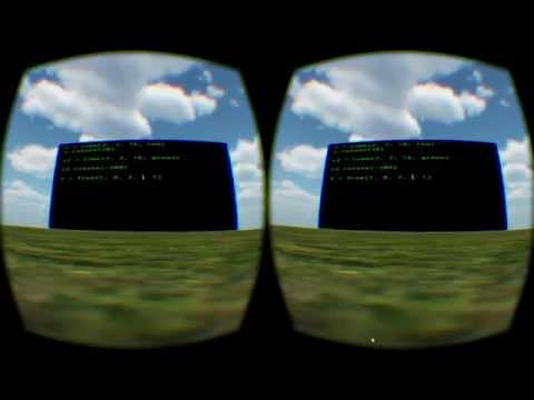 Virtual Reality Programming in Real-Time with Python