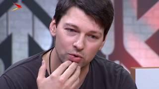 Даниил Страхов, Леонид Каневский и Сергей Голомазов в студии телеканала IrystonTV.