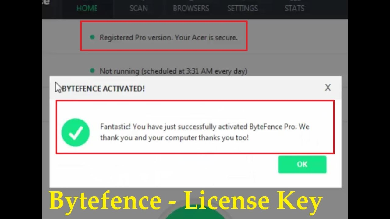 ByteFence Anti Malware Activation Key - Activate ByteFence ...
