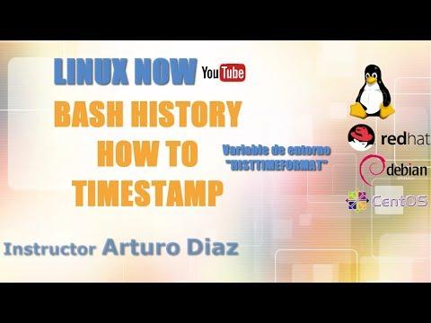Bash history, date and time for each command - Fecha y hora en tu historial  de comandos