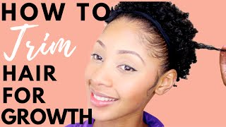 How To Trim Your Natural Hair for Growth