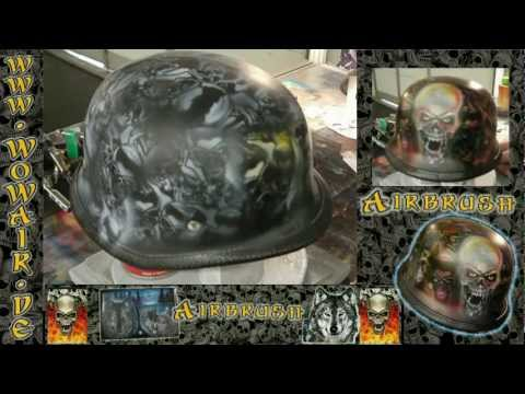 "No.313 Airbrush by Wow "" Deutscher Stahlhelm Skullz "" HD.mp4"