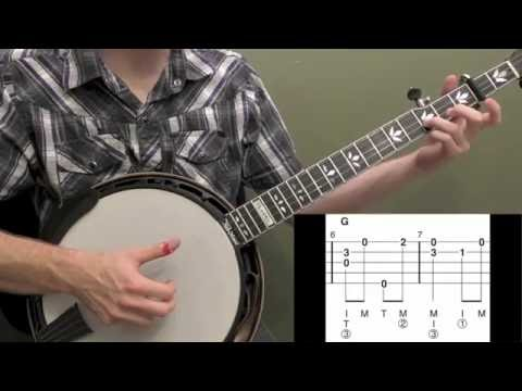 Down To The River To Pray Intermediate Banjo Lesson - YouTube