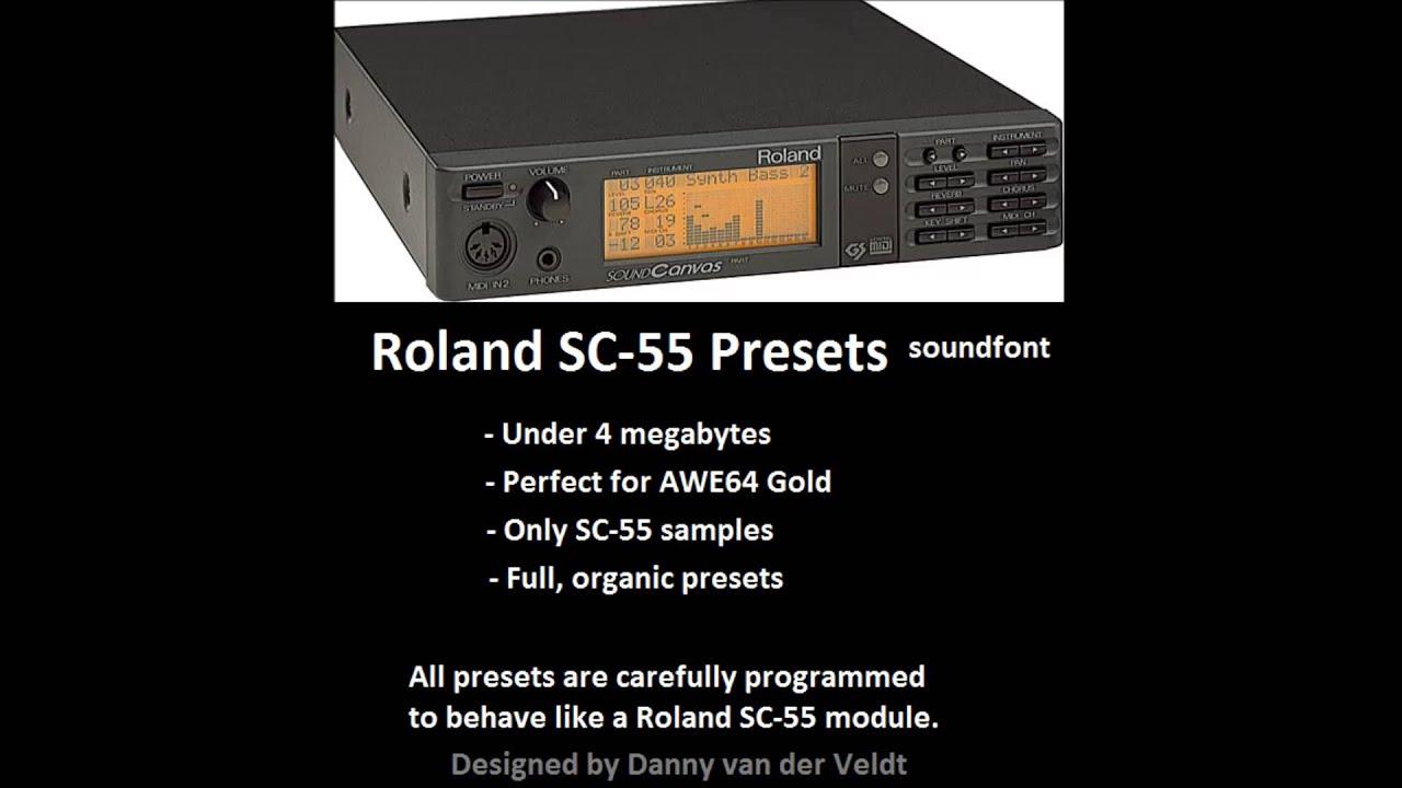 Roland Sc 55 Soundfont