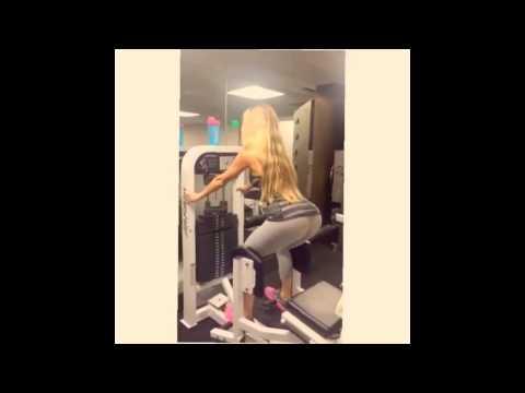Amanda Lee booty workout in yoga pants [WOW]