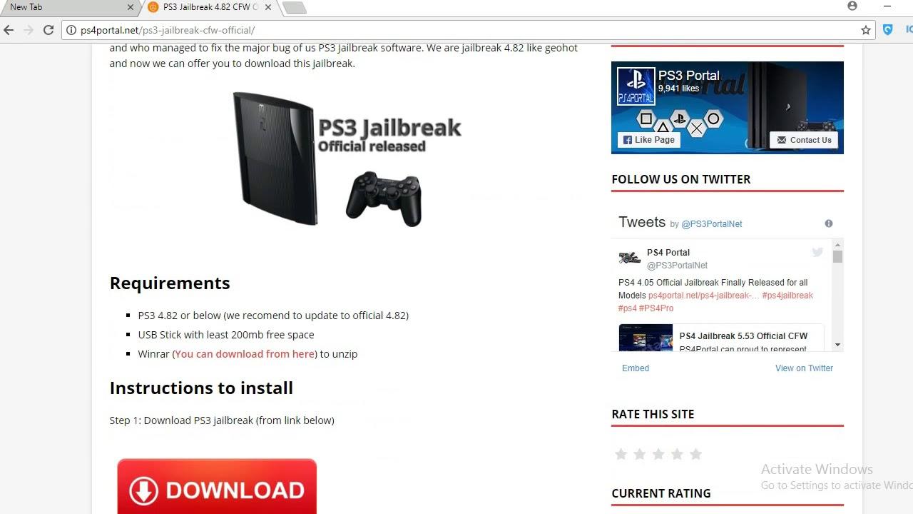 Ps3 jailbreak 4 82 cfw download | PS3 4 82 Custom Firmware