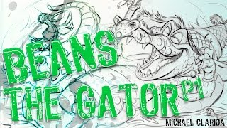Drawing Beans the gator using sketchbook pro